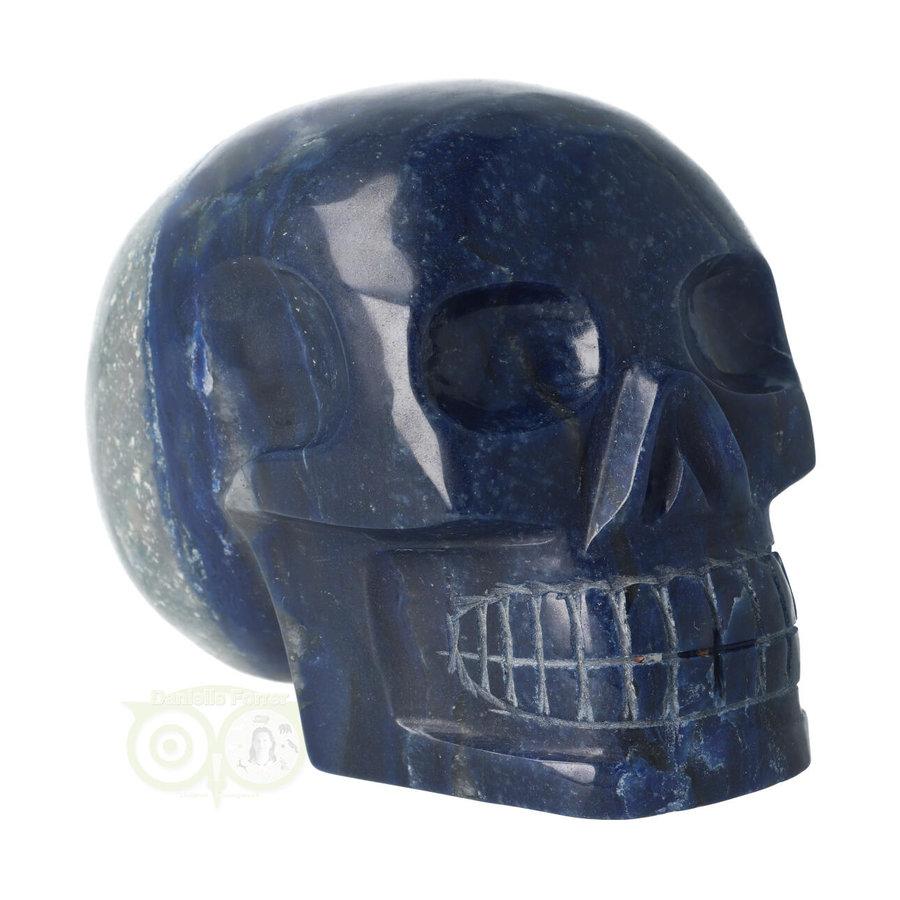 Blauwe kwarts kristallen schedel 1499 gram-2
