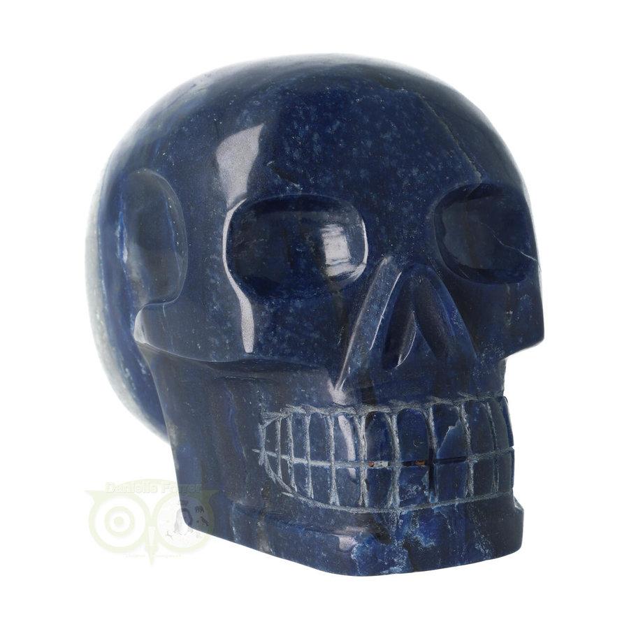 Blauwe kwarts kristallen schedel 1499 gram-3