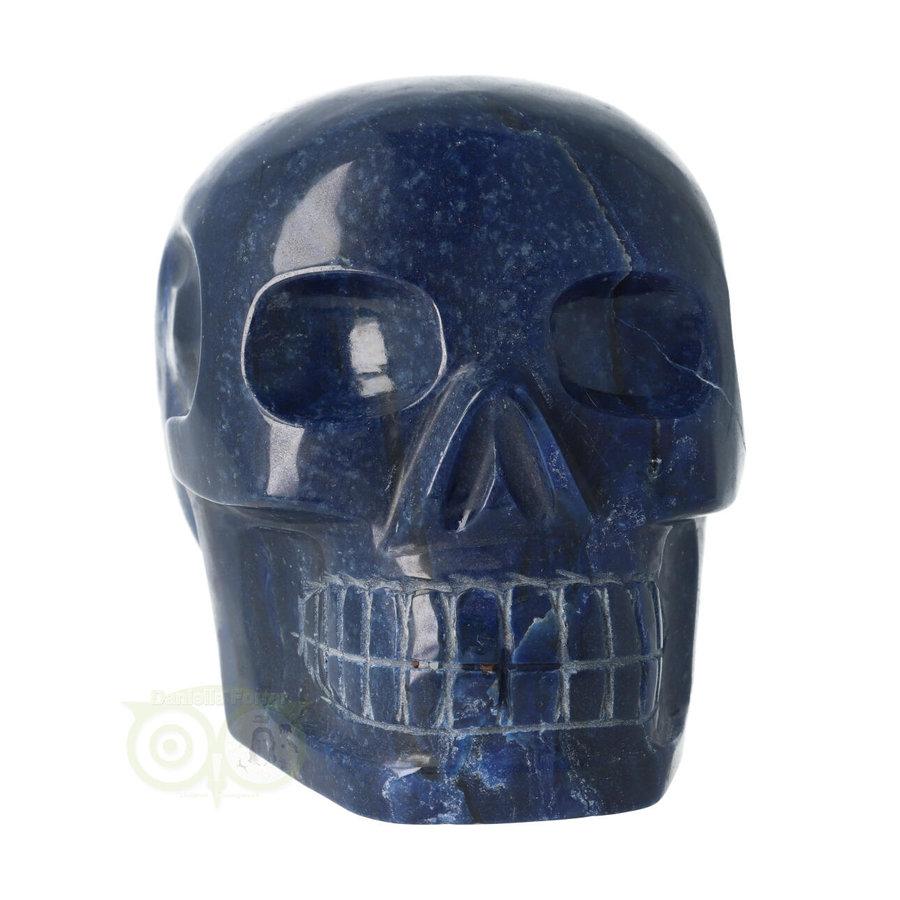 Blauwe kwarts kristallen schedel 1499 gram-4