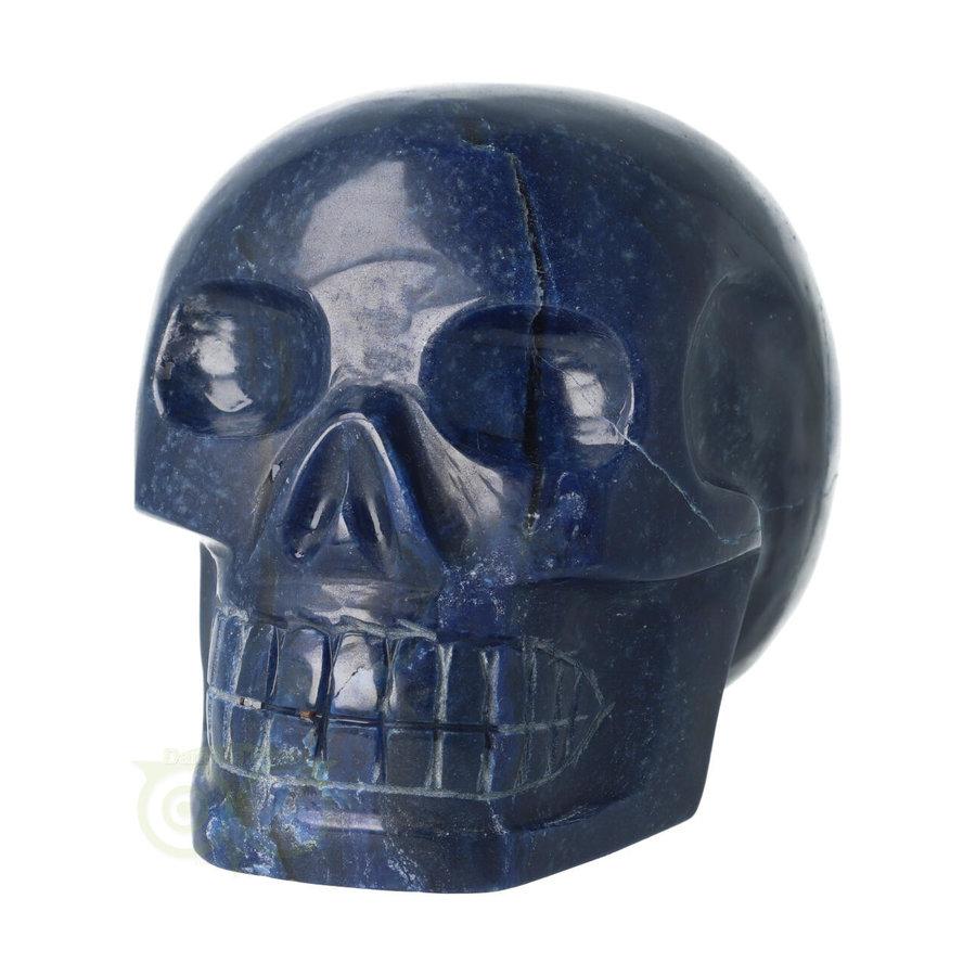 Blauwe kwarts kristallen schedel 1499 gram-5
