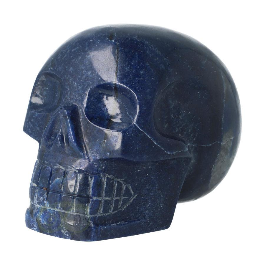 Blauwe kwarts kristallen schedel 1499 gram-6