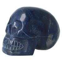 thumb-Blauwe kwarts kristallen schedel 1499 gram-7
