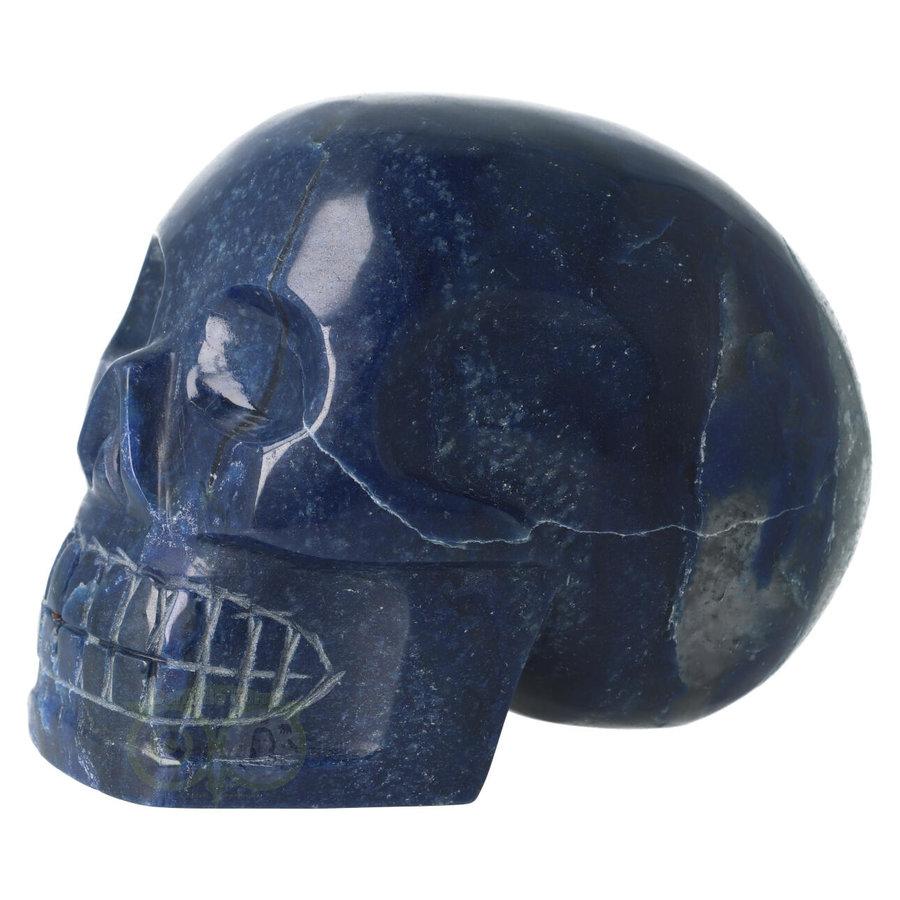 Blauwe kwarts kristallen schedel 1499 gram-7