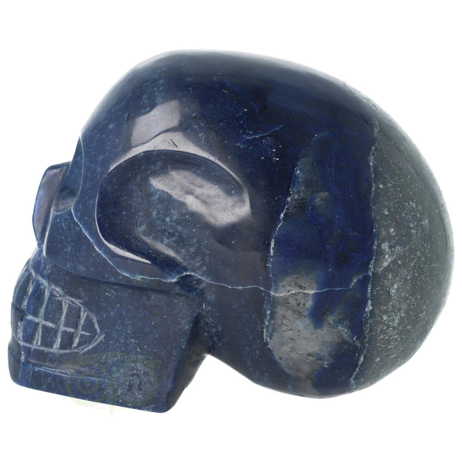 Blauwe kwarts kristallen schedel 1499 gram-8