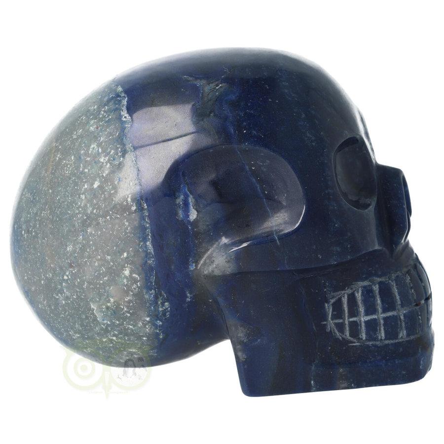 Blauwe kwarts kristallen schedel 1499 gram-9