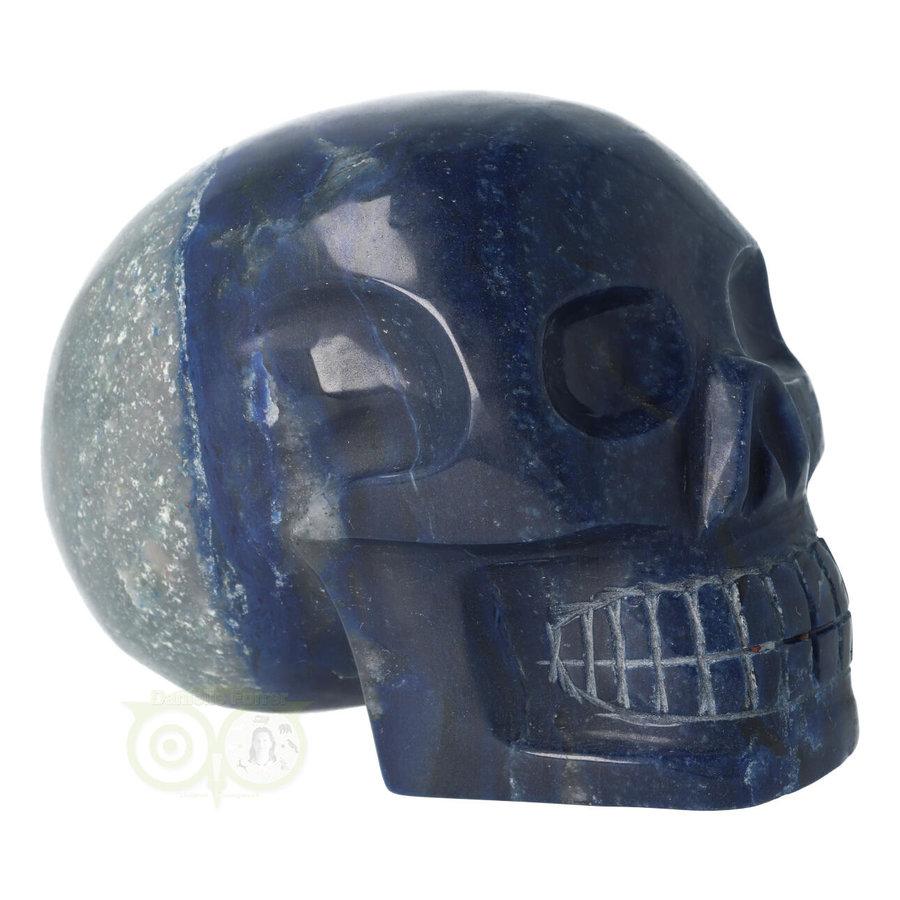 Blauwe kwarts kristallen schedel 1499 gram-10