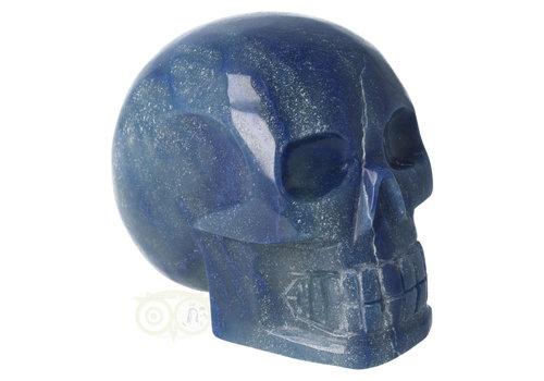 Blauwe kwarts kristallen schedel 1072 gram