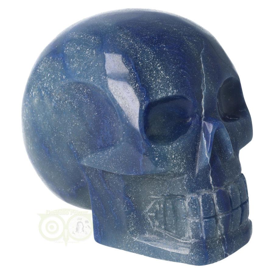 Blauwe kwarts kristallen schedel 1072 gram-1