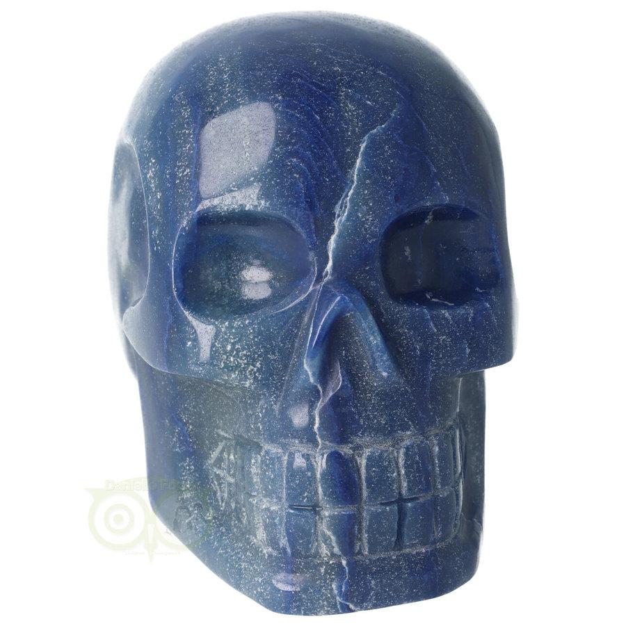 Blauwe kwarts kristallen schedel 1072 gram-3