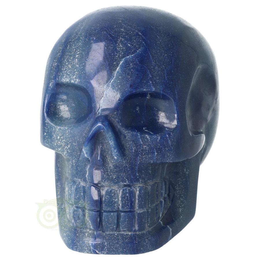 Blauwe kwarts kristallen schedel 1072 gram-4