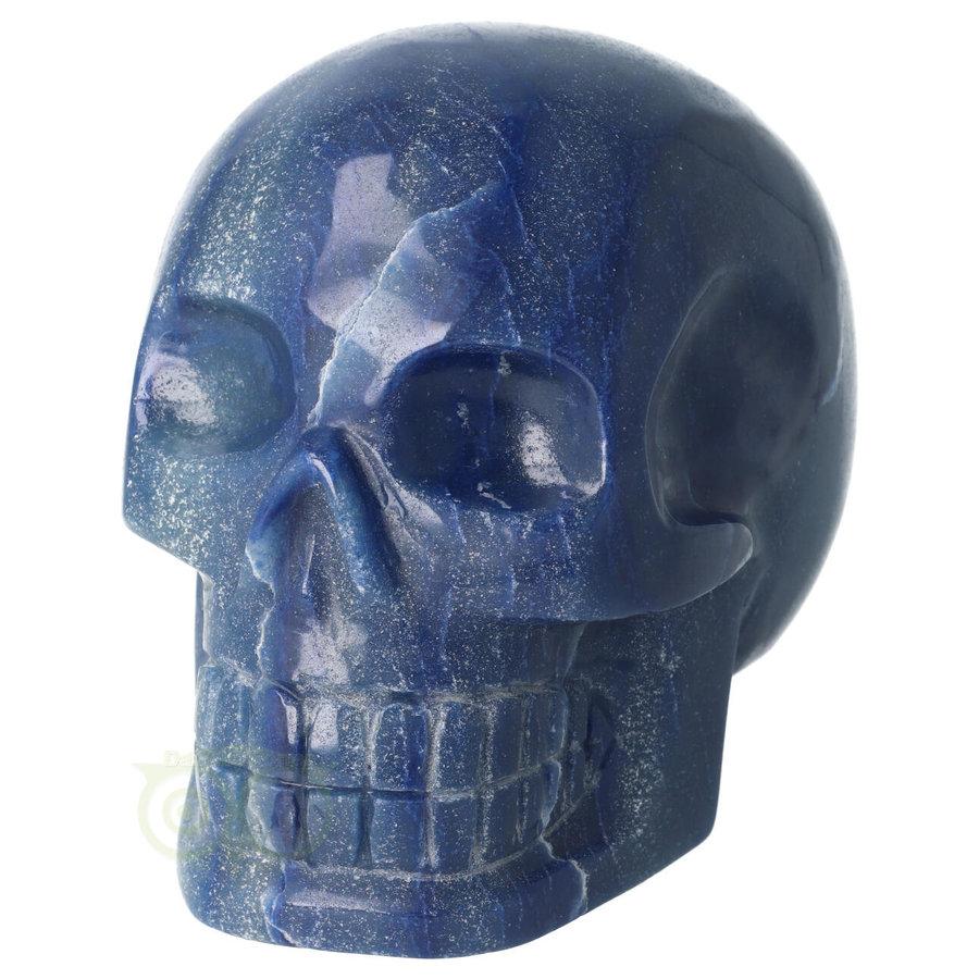 Blauwe kwarts kristallen schedel 1072 gram-5