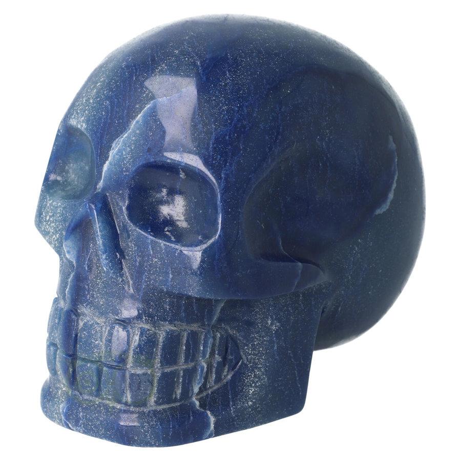 Blauwe kwarts kristallen schedel 1072 gram-6