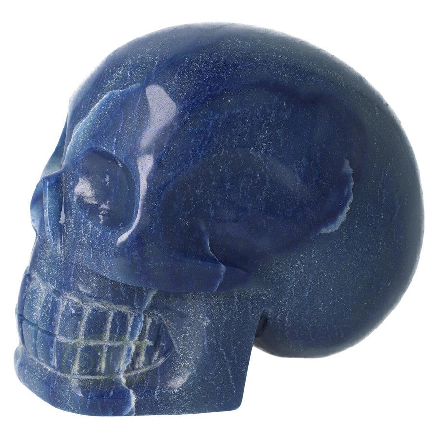 Blauwe kwarts kristallen schedel 1072 gram-7