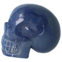 thumb-Blauwe kwarts kristallen schedel 1072 gram-8