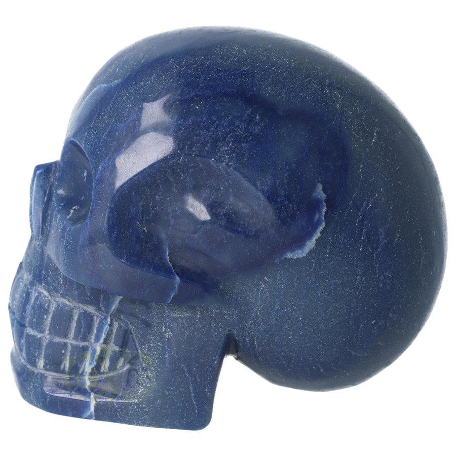 Blauwe kwarts kristallen schedel 1072 gram-8