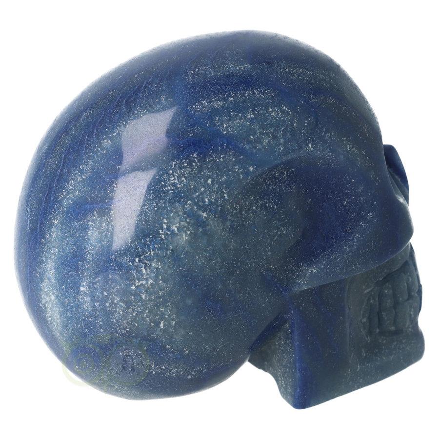 Blauwe kwarts kristallen schedel 1072 gram-9