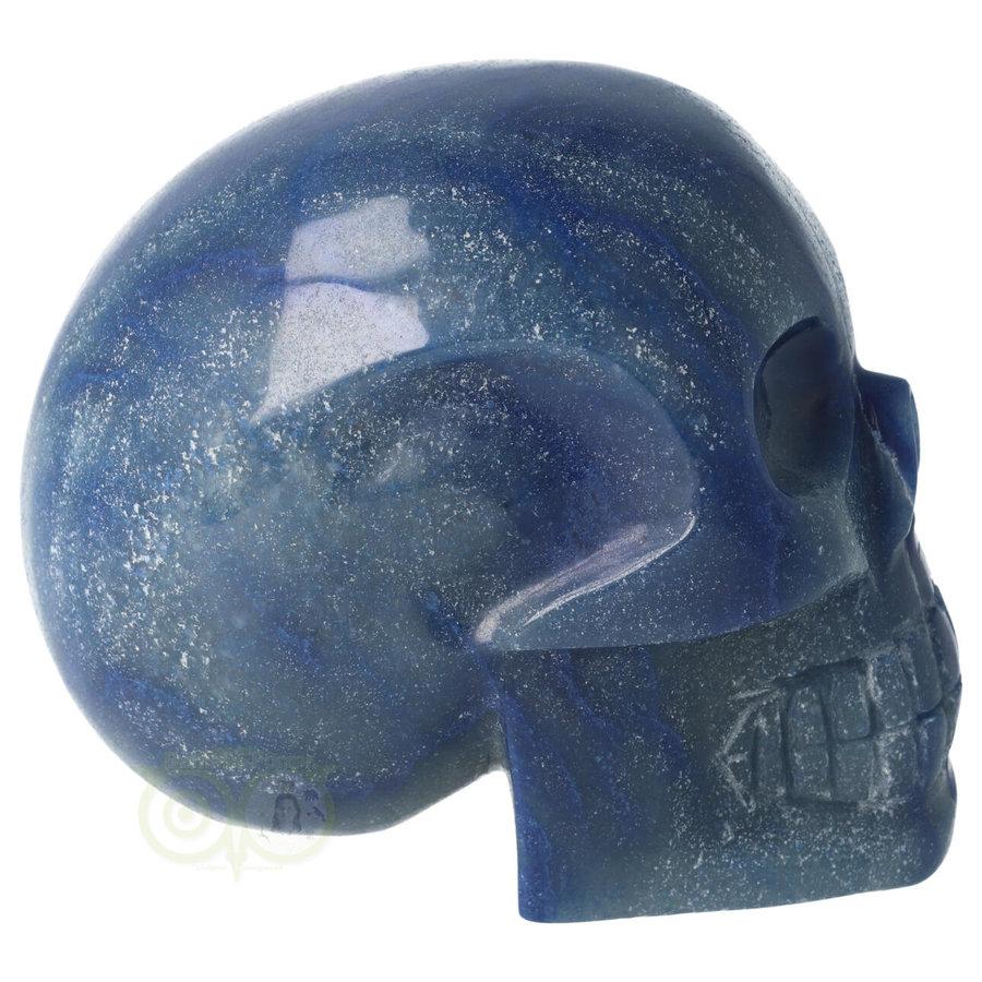 Blauwe kwarts kristallen schedel 1072 gram-10