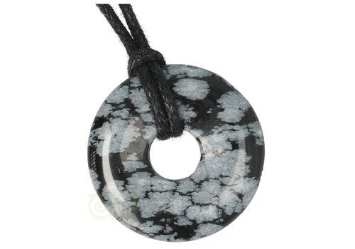 Sneeuwvlok Obsidiaan Donut hanger Nr 14