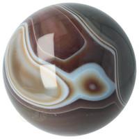 thumb-Agaat bol Nr 8 - 1,1 kg - Ø 9,40 cm - Brazilië-9