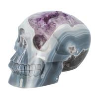 thumb-Agaat Amethist kristallen schedel 877 gram-1