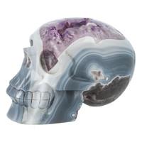 thumb-Agaat Amethist kristallen schedel 877 gram-2