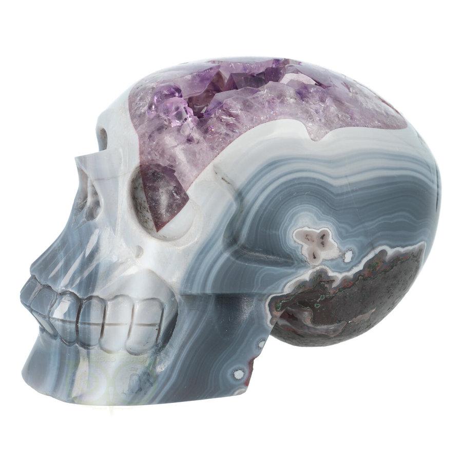 Agaat Amethist kristallen schedel 877 gram-2