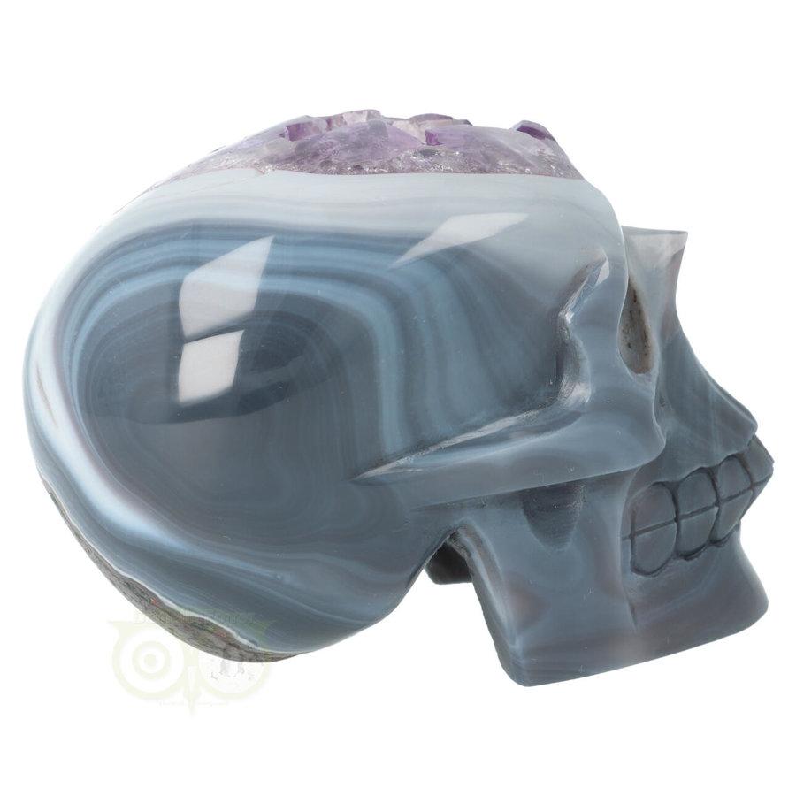 Agaat Amethist kristallen schedel 877 gram-3