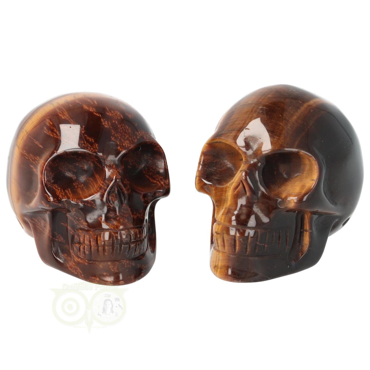 Tijgeroog kristallen schedel - Tijgeroog kleine schedels kopen | Edelstenen Webwinkel - Webshop Danielle Forrer
