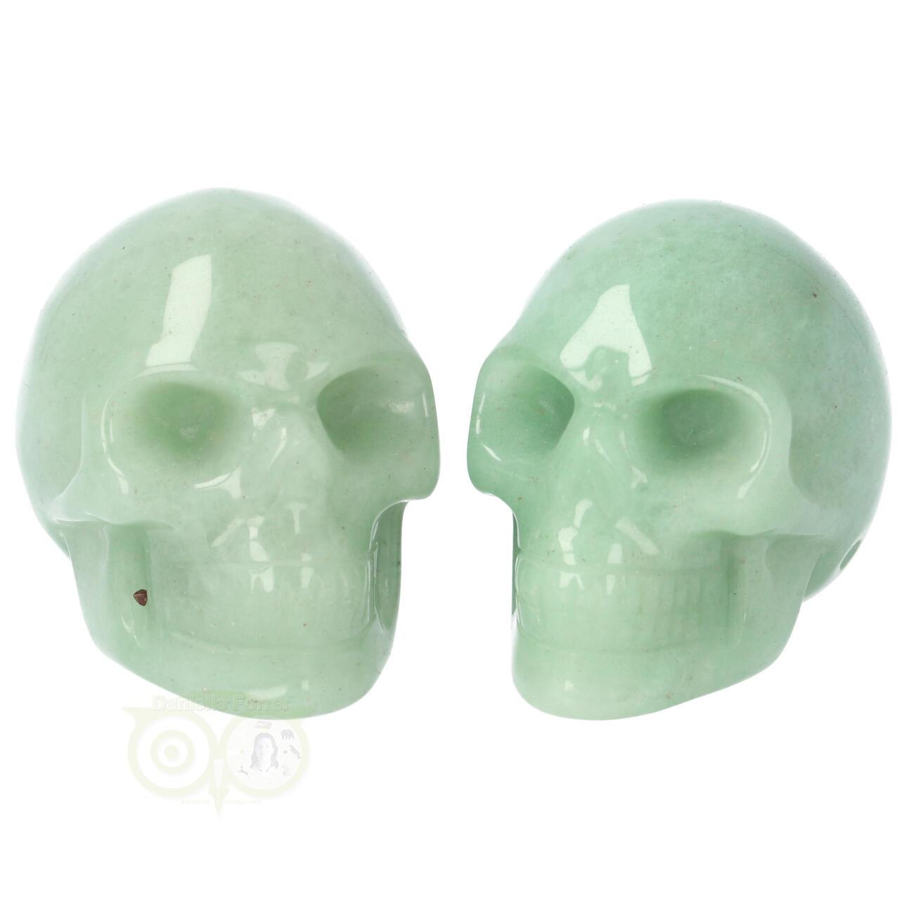 Aventurijn kristallen schedel - Aventurijn kleine schedels kopen | Edelstenen Webwinkel - Webshop Danielle Forrer