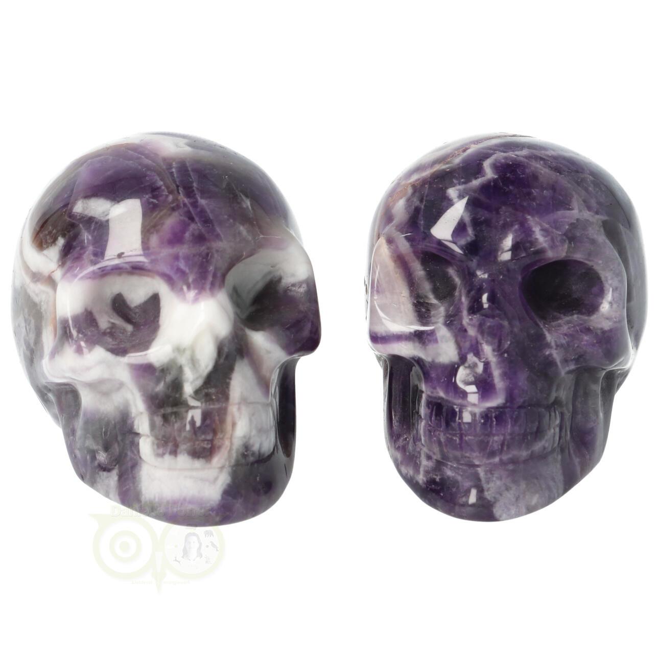 Amethist kristallen schedel - Amethist kleine schedels kopen | Edelstenen Webwinkel - Webshop Danielle Forrer