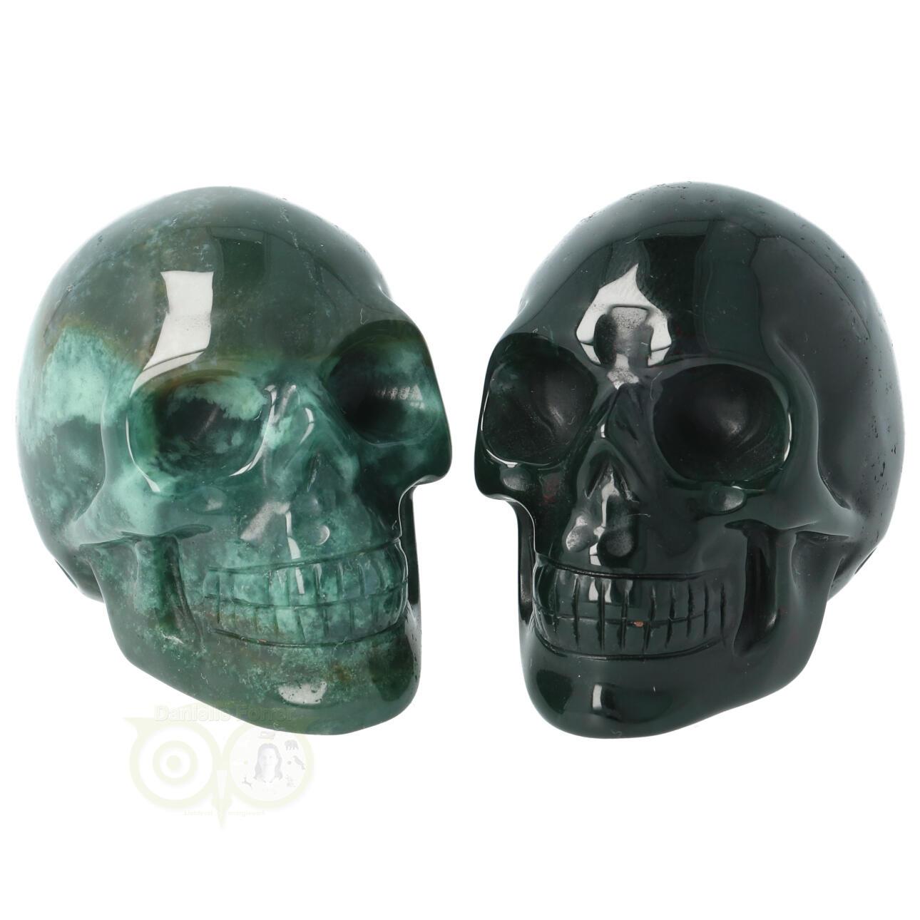 Mosagaat Mos-agaat kristallen schedel - Mosagaat Mos-agaat kleine schedels kopen | Edelstenen Webwinkel - Webshop Danielle Forrer