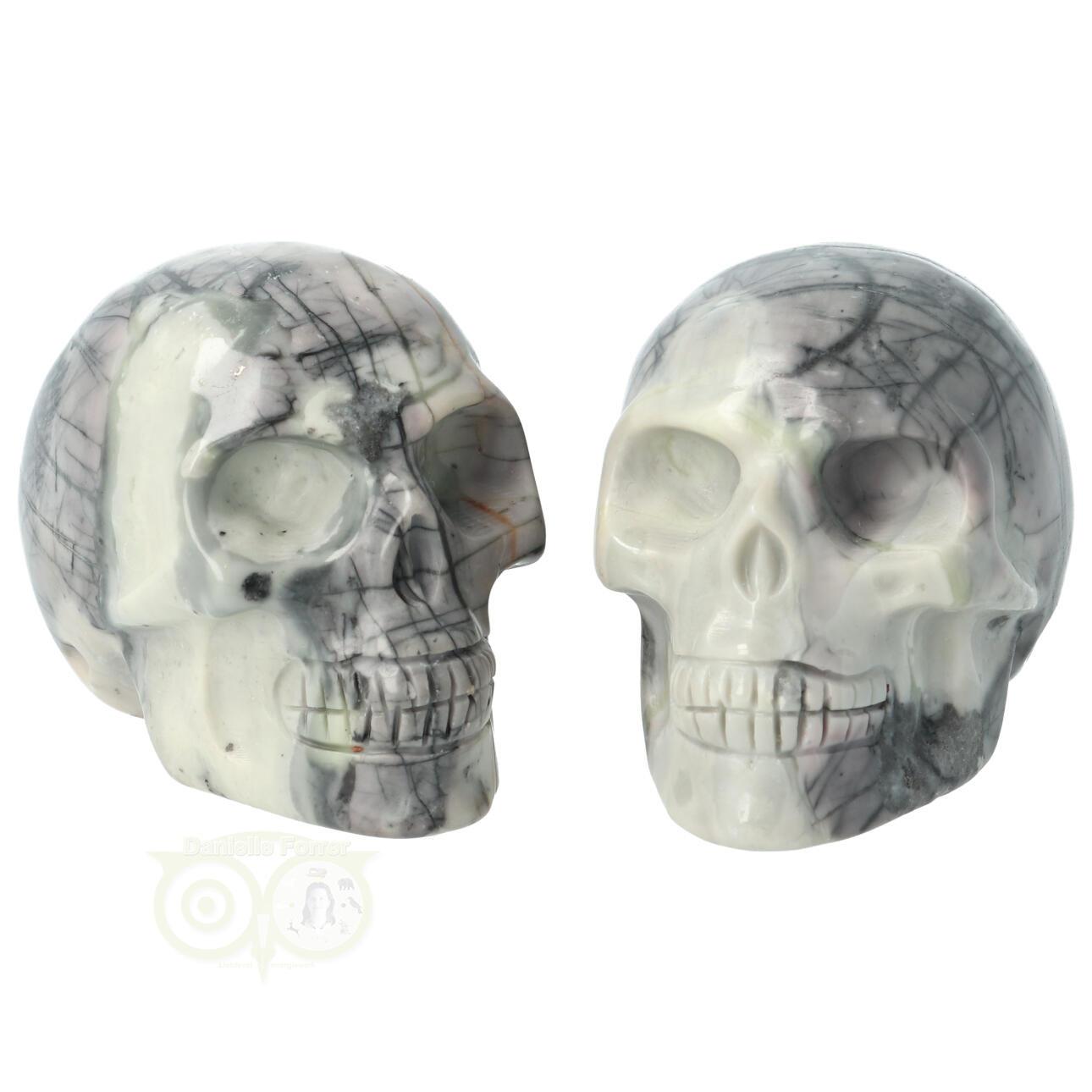 Picasso Jaspis kristallen schedel - Picasso Jaspis kleine schedels kopen | Edelstenen Webwinkel - Webshop Danielle Forrer
