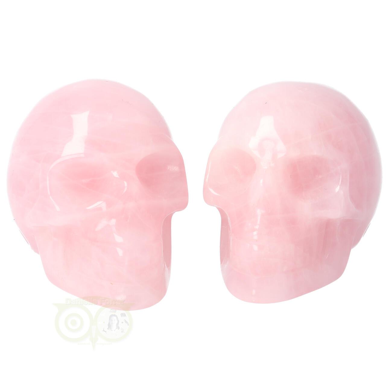 Rozenkwarts kristallen schedel - Rozenkwarts kleine schedels kopen | Edelstenen Webwinkel - Webshop Danielle Forrer