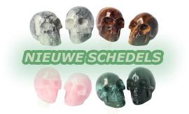 Nieuwe kleine Kristallen schedels in de webshop