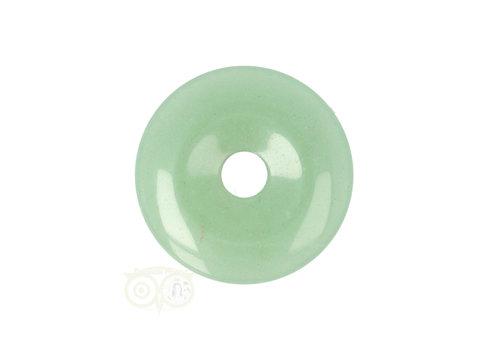Groene Aventurijn  Donut hanger Nr 15 - Ø 3 cm