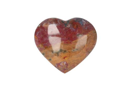 Oceaan Jaspis hart ± 3 cm Nr 22