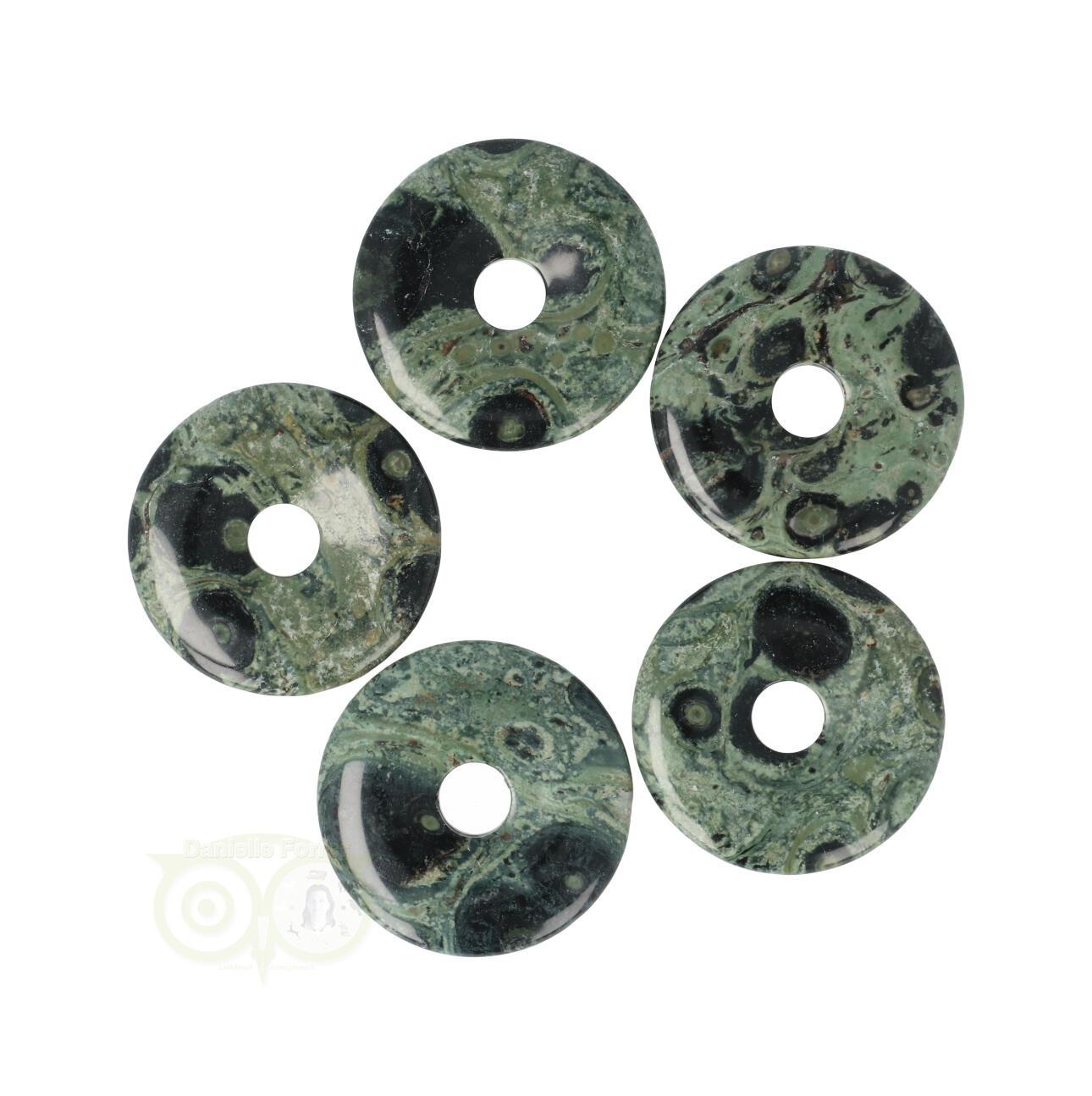 Jaspis Kambaba - Edariet donut - Pi Stones edelstenen hangers | Edelstenen webwinkel - Webshop Danielle Forrer