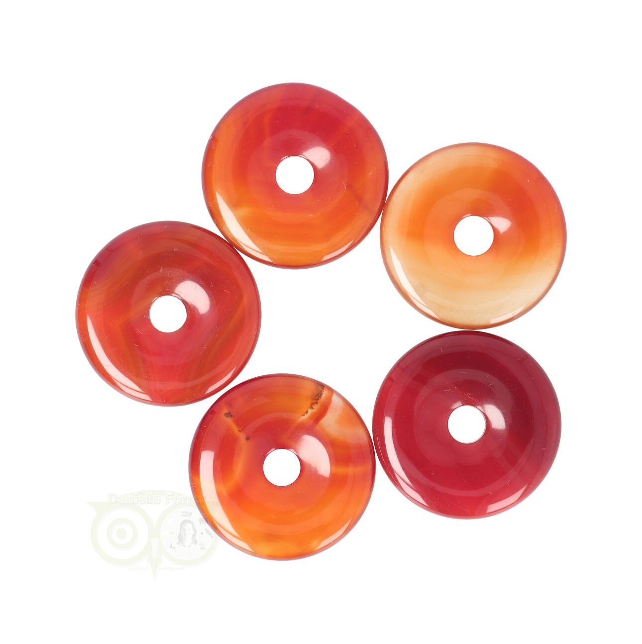 Carneool Donut - Donuts - Carneool Pi Stones | Edelstenen Webwinkel - Webshop Danielle Forrer