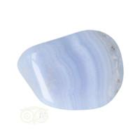thumb-Blauwe Chalcedoon ( Blue Lace Agaat ) trommelsteen Nr 21 - 20  gram-2