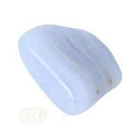 thumb-Blauwe Chalcedoon ( Blue Lace Agaat ) trommelsteen Nr 26 - 26  gram-4