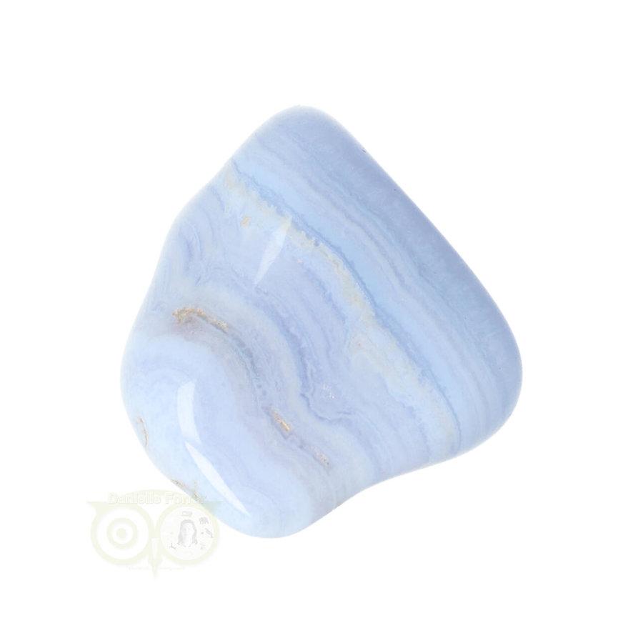Blauwe Chalcedoon ( Blue Lace Agaat ) trommelsteen Nr 26 - 26  gram-6