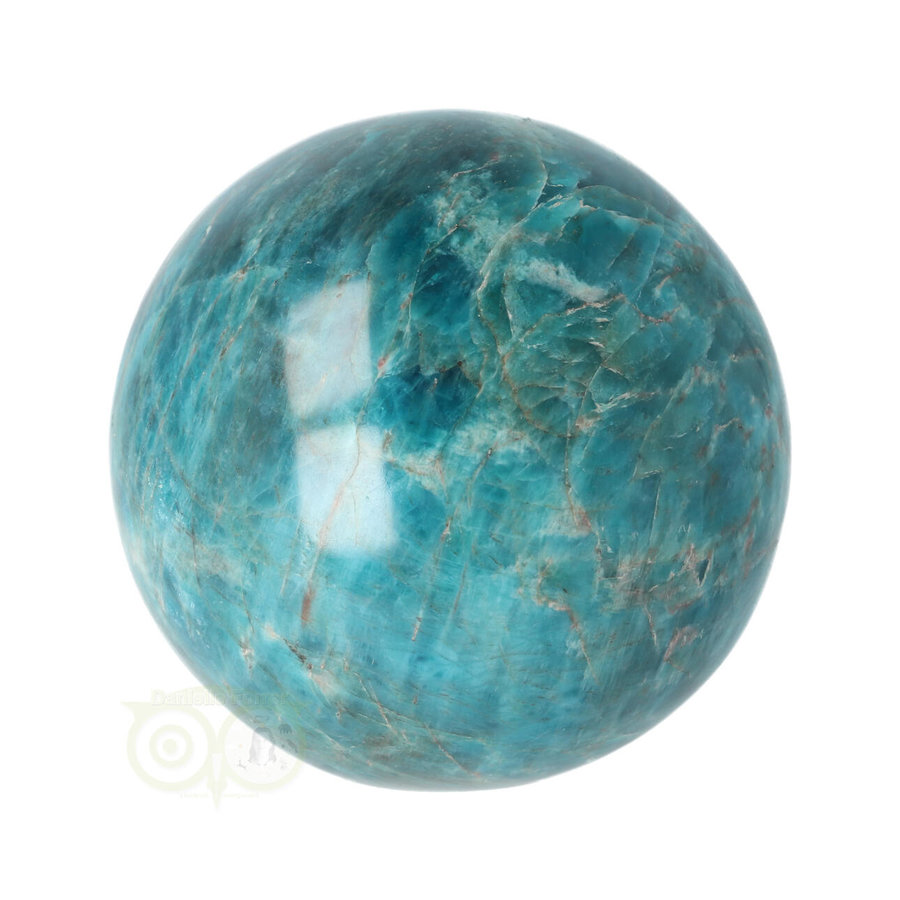Blauwe Apatiet  Bol Nr 8 - Ø 6.53 cm  - 461 gram-1