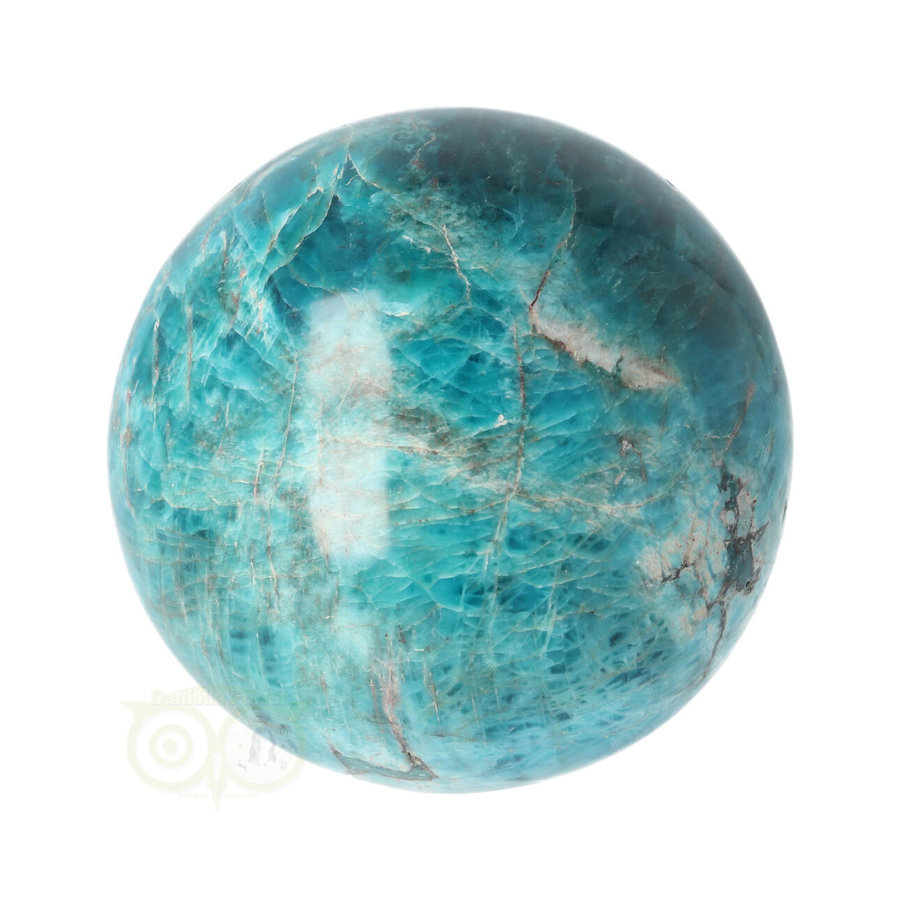Blauwe Apatiet  Bol Nr 8 - Ø 6.53 cm  - 461 gram-5