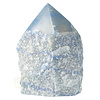 Blauwe kwarts  geslepen Punt  ( Generator ) Nr 10 - 366 gram