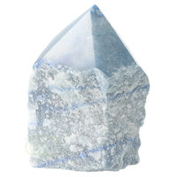 thumb-Blauwe kwarts  geslepen Punt  ( Generator ) Nr 10 - 366 gram-7