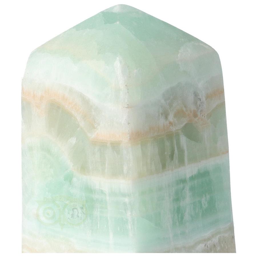 Caribbean Blue Calciet Punt - obelisk Nr 9 -  439 gram-2