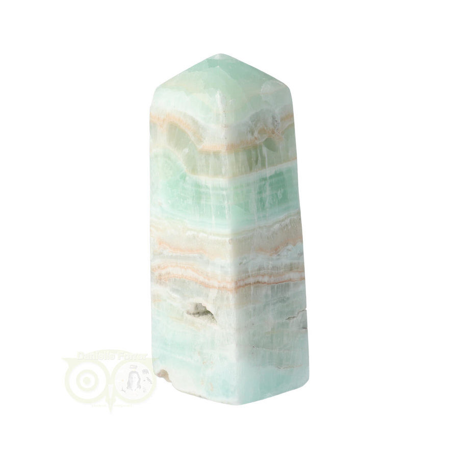Caribbean Blue Calciet Punt - obelisk Nr 9 -  439 gram-1