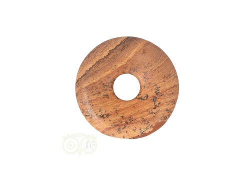 Landschaps Jaspis Donut hanger Nr 14 - Ø 3 cm