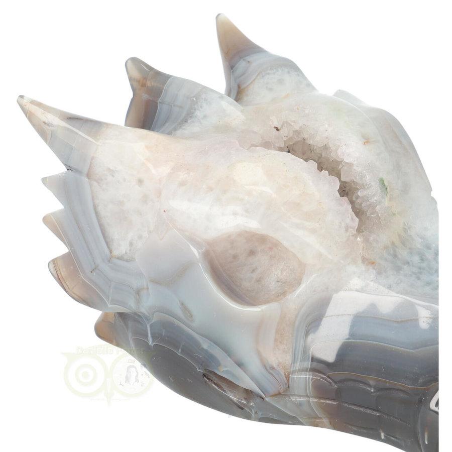 Agaat Geode Drakenschedel 910 gram-2