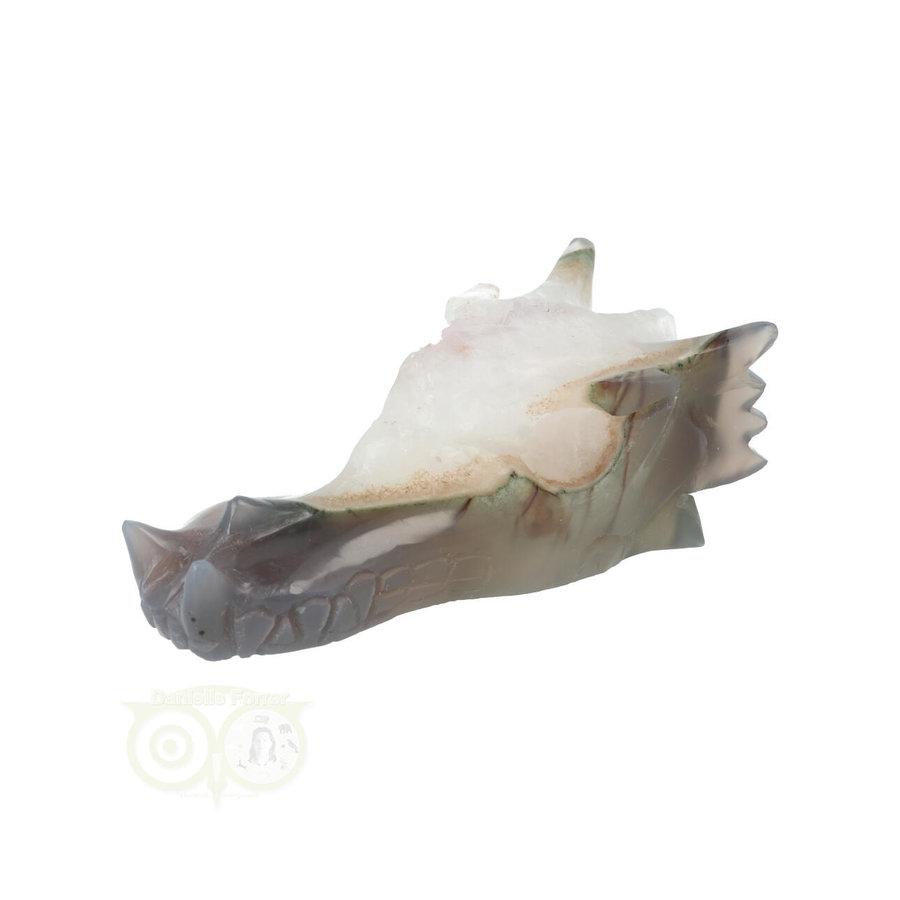 Agaat Geode Drakenschedel 256 gram-5